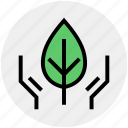 conservation, ecology, environment, leaf, nature, plant, recycling icon