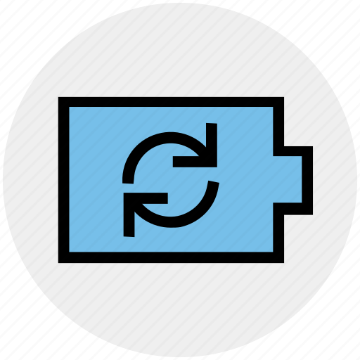 battery, charging, ecology, energy, environment, recycling, storage icon