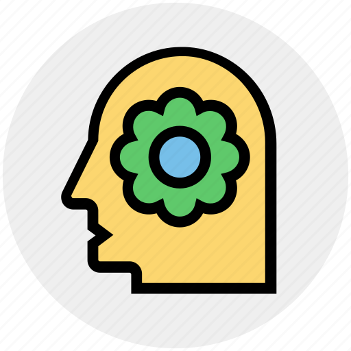Head, ecology, recycling, environment, flower, green, think icon - Download