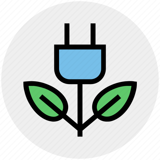 Eco, ecology, energy, environment, green, green energy, plug icon - Download on Iconfinder