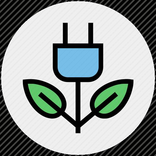 Plug, ecology, eco, energy, green energy, environment, green icon