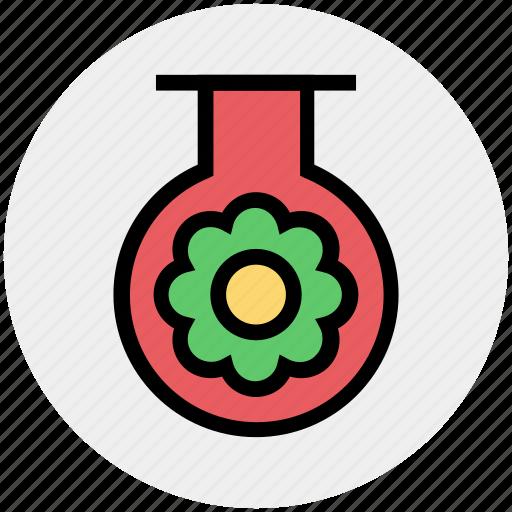 Ecology, energy, environment, flower, tube, test tube icon
