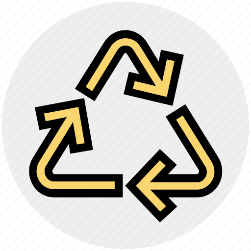 arrows, ecology, environment, recycling, reload, sync, technology icon