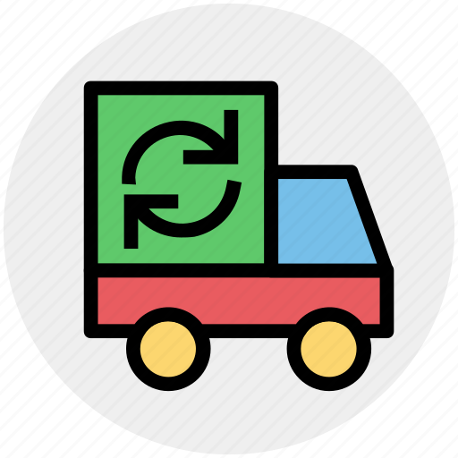 ecologic, ecology, environment, garbage, garbage truck, green eco, recycling icon