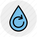 ecology, energy, environment, recycling, treatment, water, water drop icon