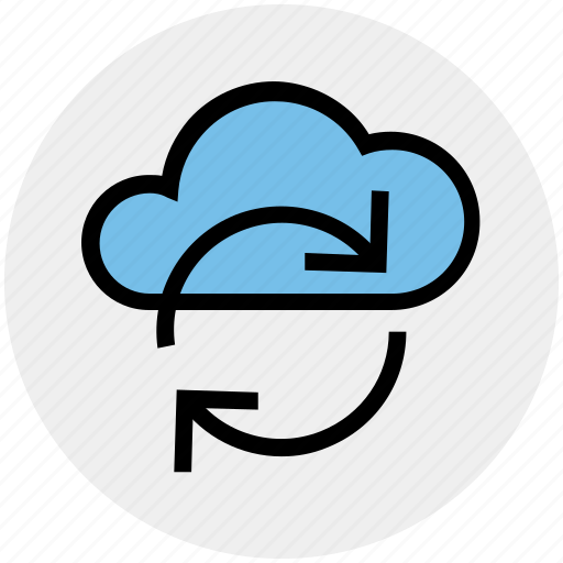 cloud network, cloud refresh sign, cloud reload, cloud storage cycle, ecology, environment, sync concept icon
