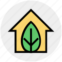 ecology, leaf, eco, house, environment, green, green house