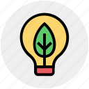 ecology, leaf, energy, idea, environment, innovative, bulb