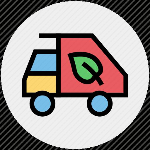 ecology, environment, thin, vehicle, waste icon