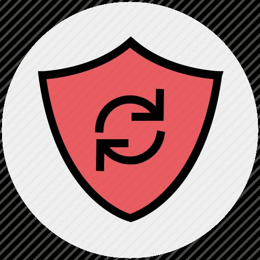 ecology, environment, environmental, protection, rotation, shield icon