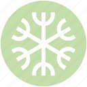 ecological, ecology, energy, environment, snow, snowflake icon