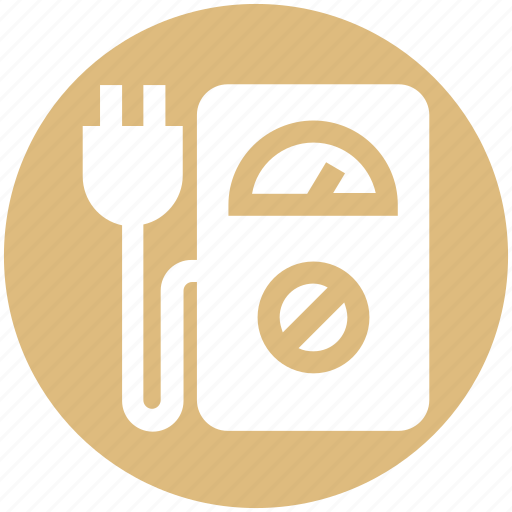 Eco plug, ecology, environment, machine, meter, power plug, speedometer machine icon - Download on Iconfinder