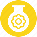 ecology, energy, environment, flower, test tube, tube icon