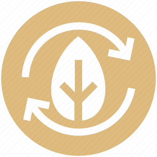 Arrows, biodegradable material, ecology, environment, nature, recycle, thin icon - Download on Iconfinder