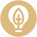 bulb, ecology, energy, environment, idea, innovative, leaf icon