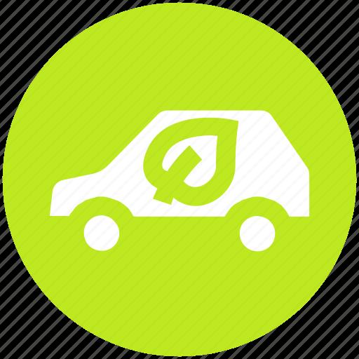 eco, eco car, ecology, environment, friendly, transport, vehicle icon
