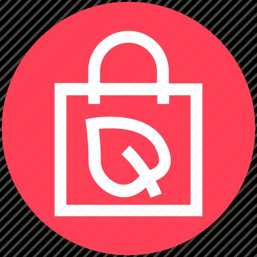 Bag, ecology, environment, green, hand bag, leaf, nature icon - Download on Iconfinder