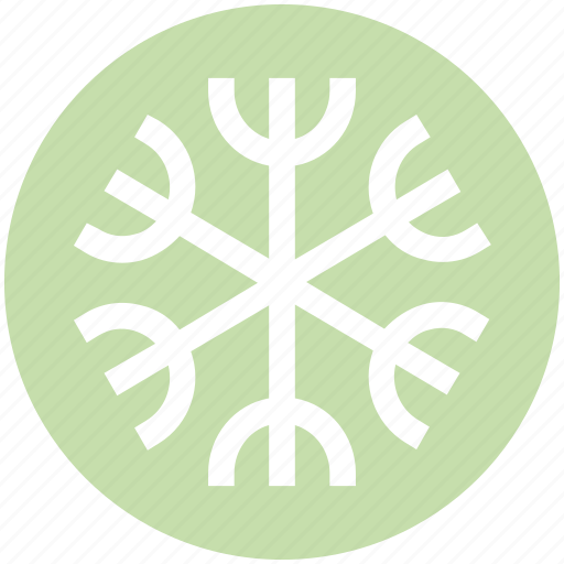 Ecological, ecology, energy, environment, snow, snowflake icon - Download on Iconfinder