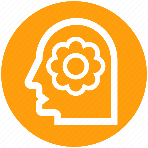 Ecology, environment, flower, green, head, recycling, think icon - Download on Iconfinder