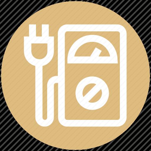 eco plug, ecology, environment, machine, meter, power plug, speedometer machine icon