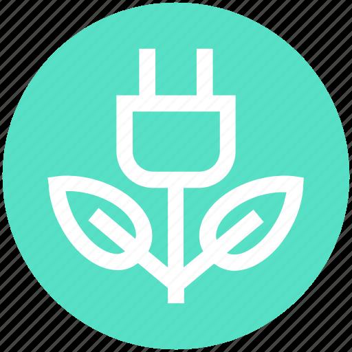 eco, ecology, energy, environment, green, green energy, plug icon