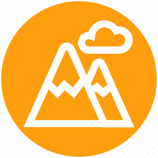 ecology, environment, mountains, nature, park, weather icon