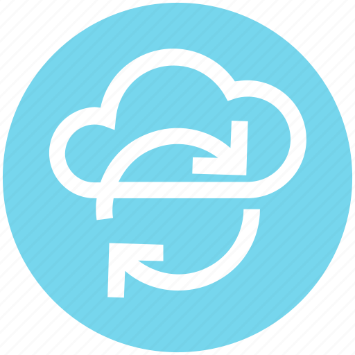 Cloud network, cloud refresh sign, cloud reload, cloud storage cycle, ecology, environment, sync concept icon - Download on Iconfinder