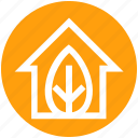 eco, ecology, environment, green, green house, house, leaf icon