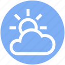 cloud, cloud sun, ecology, environment, sun, weather icon