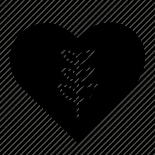 Eco, garden, heart, leaf, love, plant icon - Download on Iconfinder