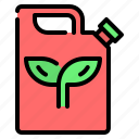 eco, eco fuel, ecology, gasoline, jerrycan, leaf, petrol icon