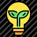 bulb, eco, ecology, idea, leaf, light, lightbulb