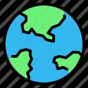 earth, eco, ecology, globe, planet, world, world map icon