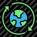arrows, earth, eco, ecology, renewable, world