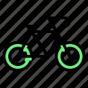 bicycle, bike, cycle, cycling, eco, ecology, vehicle icon