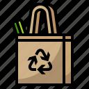 bag, ecology, recycle, reusable, shopping icon