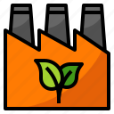 clean, ecology, factory, green icon