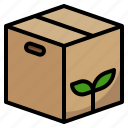 box, delivery, ecology, packing, paper icon
