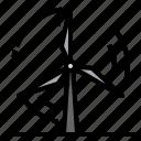 ecology, energy, plant, power, wind icon