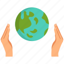 earth, ecology, global, hands, planet, save, world icon