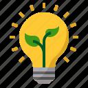 bulb, ecology, idea, lighting, plant