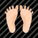 feet, foot, footprints, human feet icon