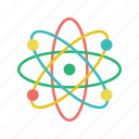 atom, electron, physics, science icon