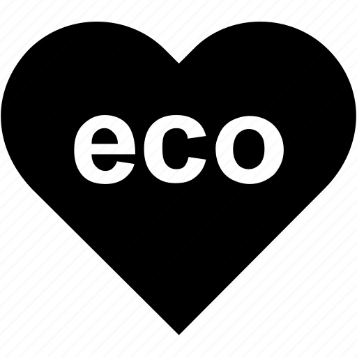 eco, ecology, heart, nature, recycling icon