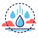 circulation, cycle, drops, water icon