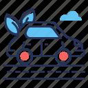 ecology, electric car, ev, road icon