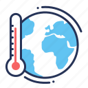 thermometer, temperature, global warming, earth