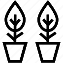 gardening, greenery, growth, plant pots, plants icon