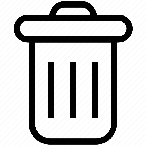 dustbin, garbage bin, garbage can, recycling bin, trash can icon