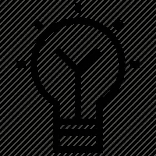 bulb, electric bulb, light, light bulb, lighting equipment icon